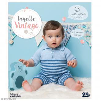 Livre Layette Vintage - 25 modèles pour bébé à tricoter - De 0 à 18 mois