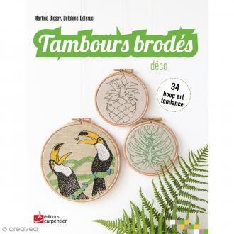 Livre Tambours brodés déco - Biessy & Delerue - 34 hoop art tendance