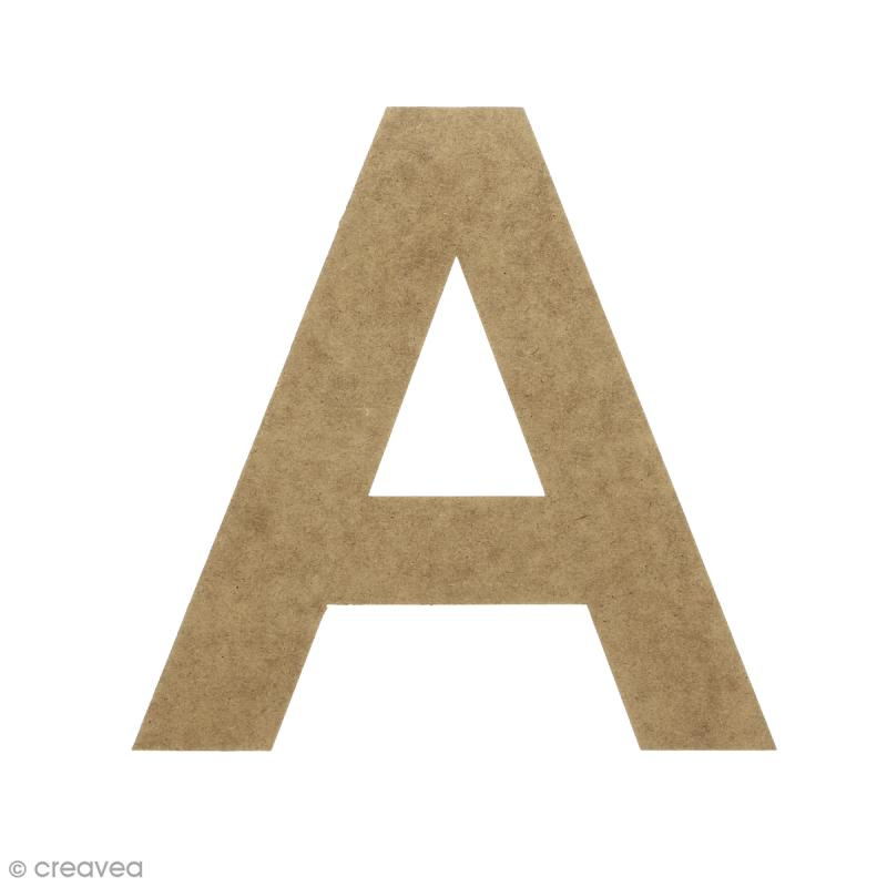 Lettre en bois 20 cm à décorer - A - Photo n°1