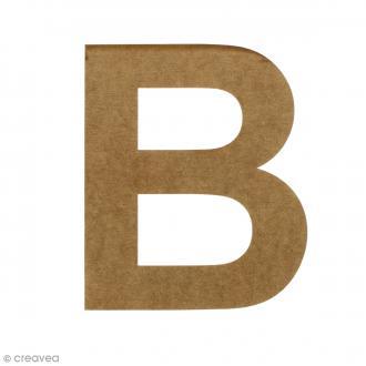 Lettre en bois 20 cm à décorer - B