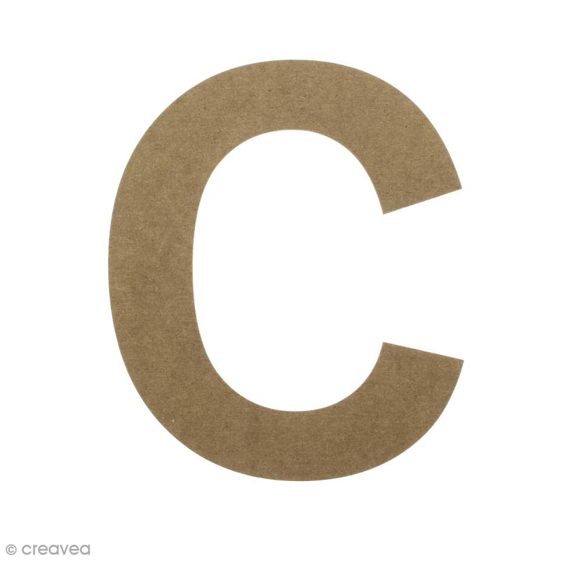 Lettre en bois 20 cm à décorer - C - Photo n°1