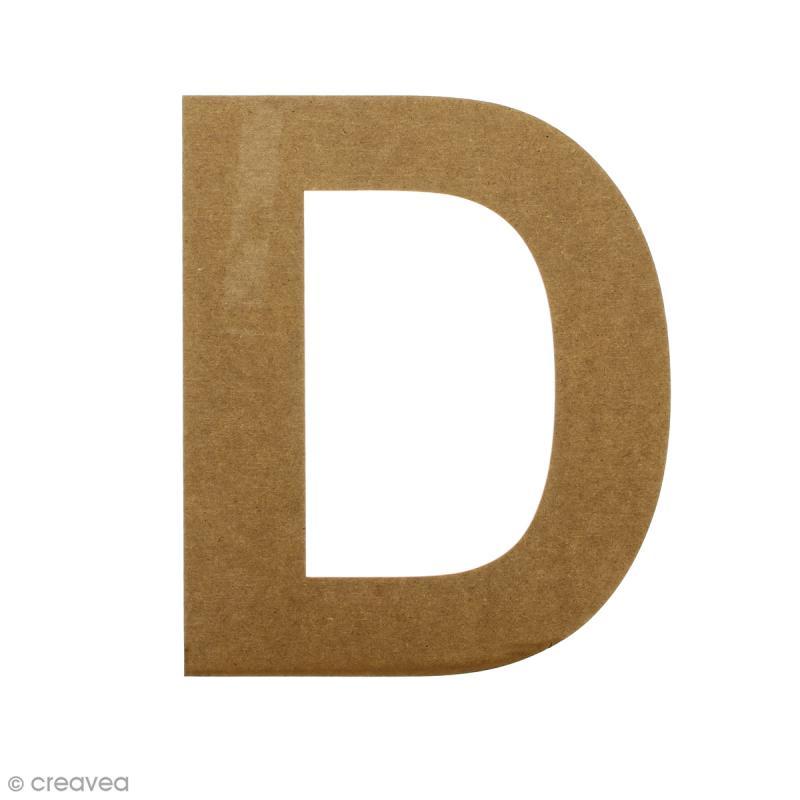 Lettre en bois 20 cm à décorer - D - Photo n°1