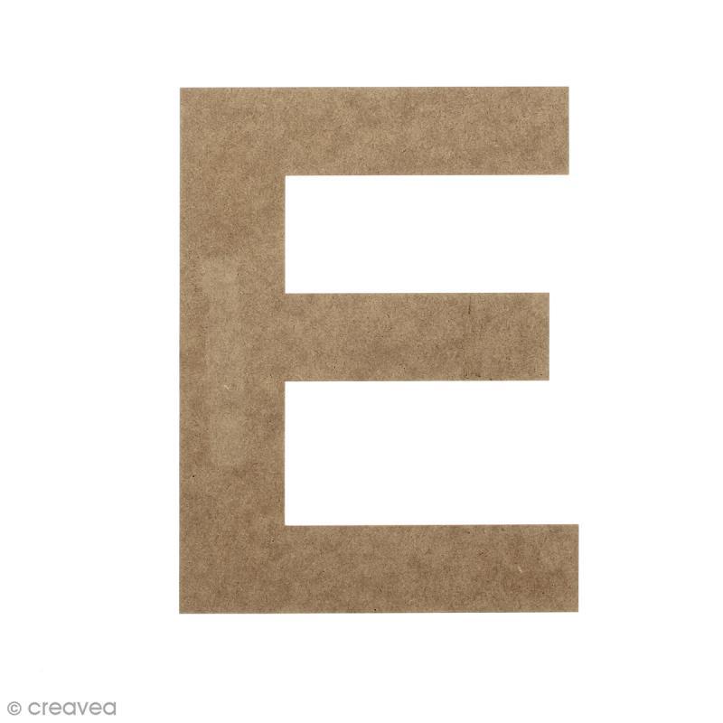 Lettre en bois 20 cm à décorer - E - Photo n°1