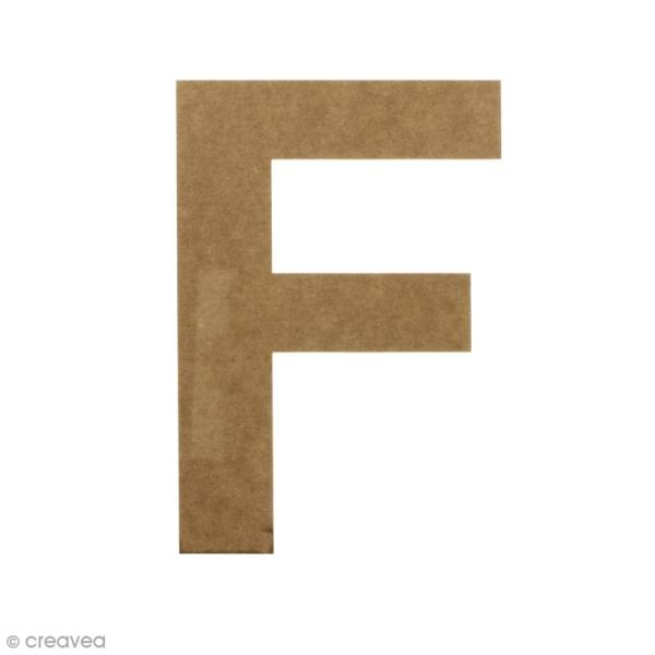 Lettre en bois 20 cm à décorer - F - Photo n°1