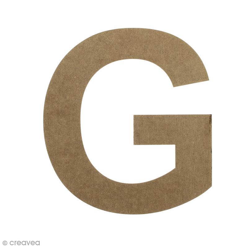 Lettre en bois 20 cm à décorer - G - Photo n°1