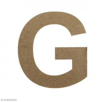 Lettre en bois 20 cm à décorer - G