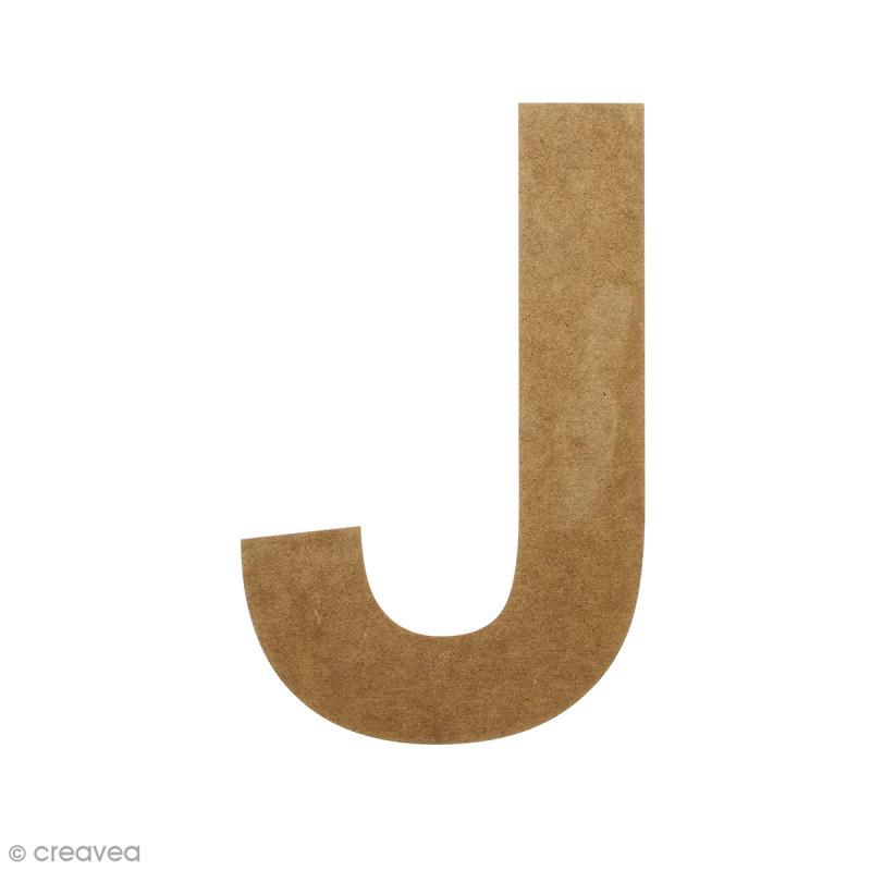 Lettre en bois 20 cm à décorer - J - Photo n°1