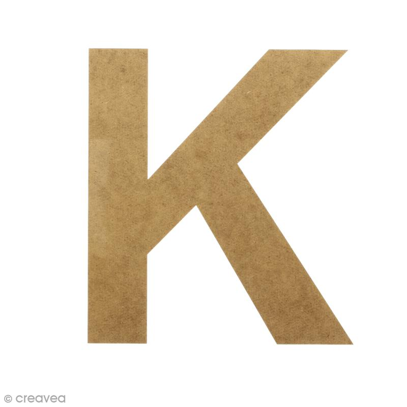 Lettre en bois 20 cm à décorer - K - Photo n°1