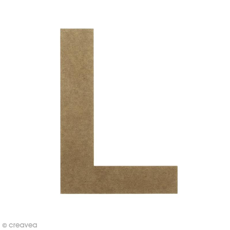 Lettre en bois 20 cm à décorer - L - Photo n°1