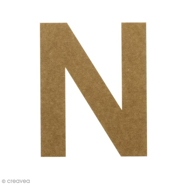 Lettre en bois 20 cm à décorer - N - Photo n°1