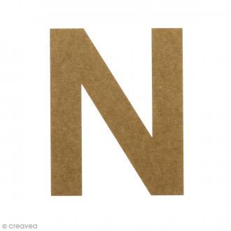 Lettre en bois 20 cm à décorer - N