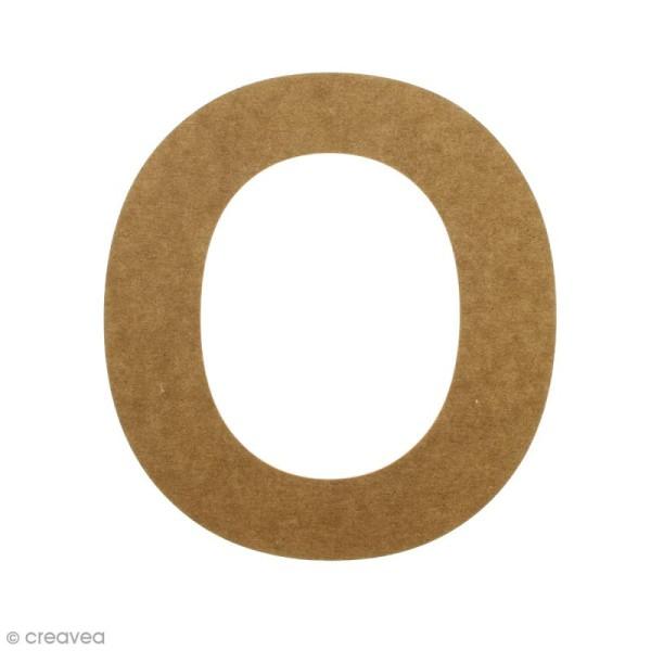 Lettre en bois 20 cm à décorer - O - Photo n°1