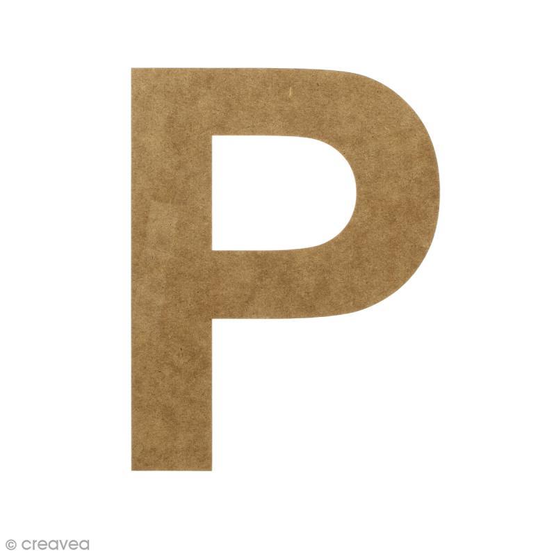 Lettre en bois 20 cm à décorer - P - Photo n°1