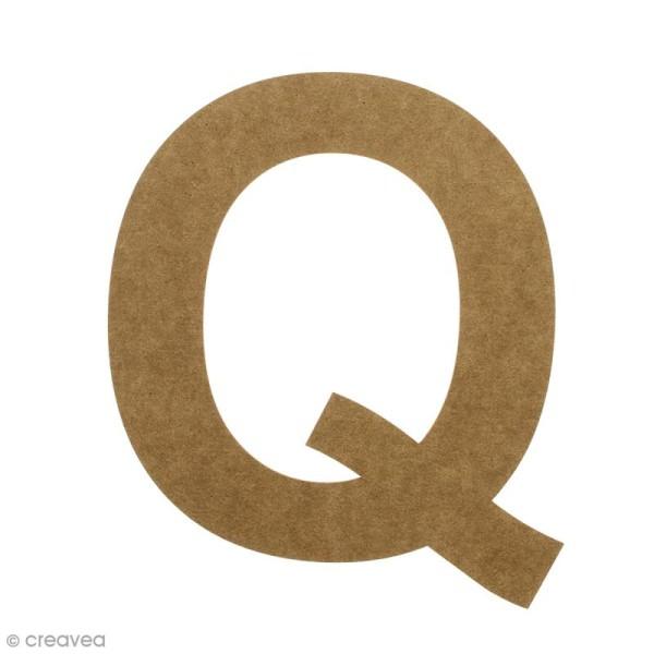 Lettre en bois 20 cm à décorer - Q - Photo n°1