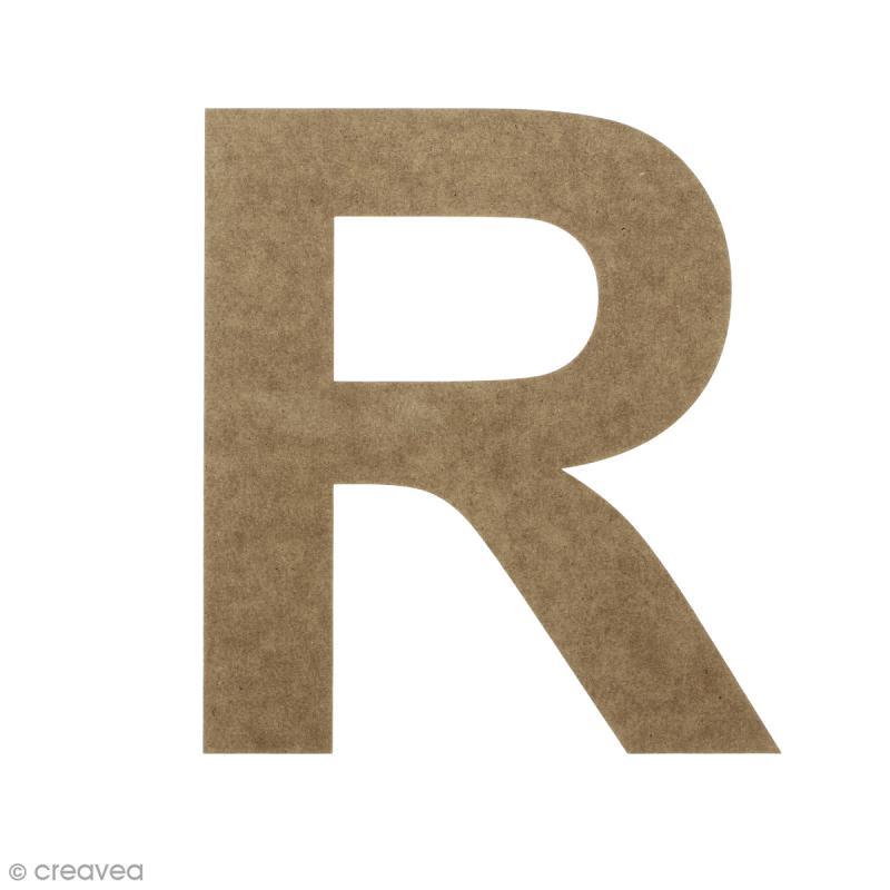 Lettre en bois 20 cm à décorer - R - Photo n°1