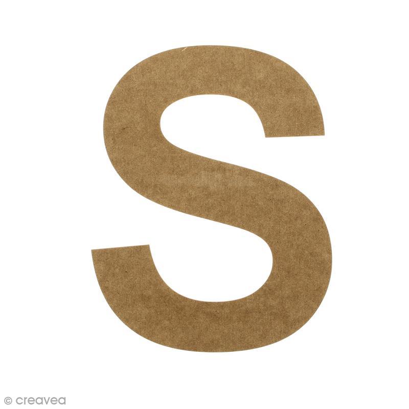 Lettre en bois 20 cm à décorer - S - Photo n°1