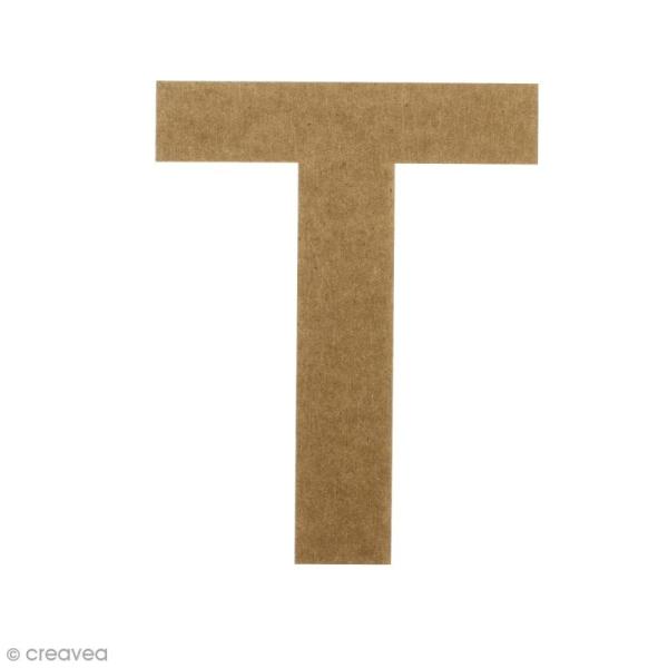Lettre en bois 20 cm à décorer - T - Photo n°1