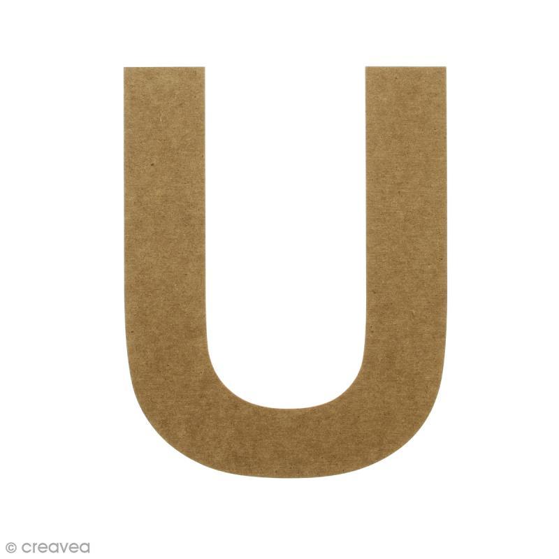 Lettre en bois 20 cm à décorer - U - Photo n°1