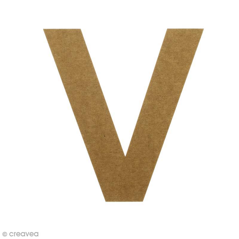 Lettre en bois 20 cm à décorer - V - Photo n°1
