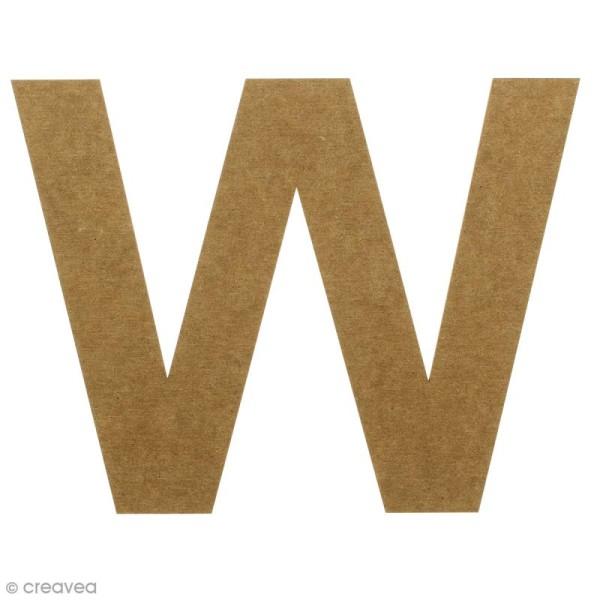 Lettre en bois 20 cm à décorer - W - Photo n°1