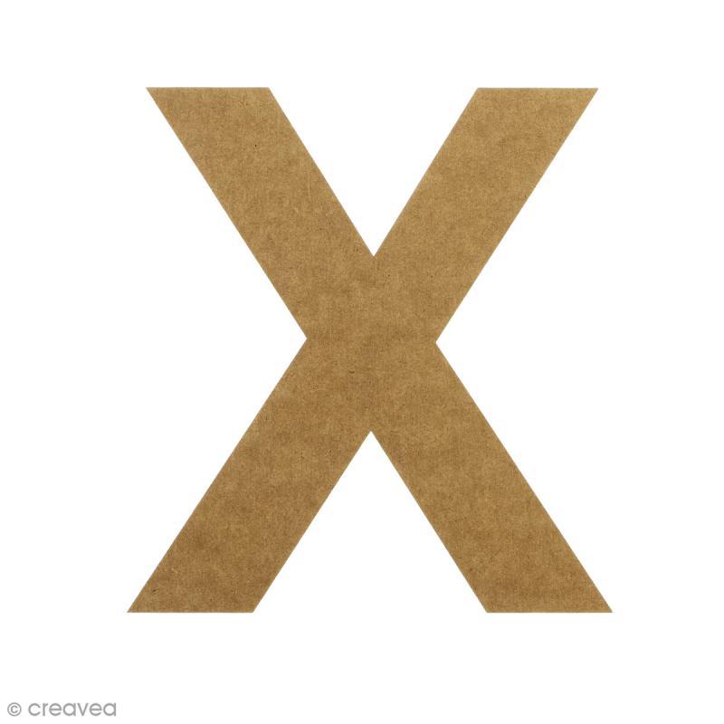 Lettre en bois 20 cm à décorer - X - Photo n°1