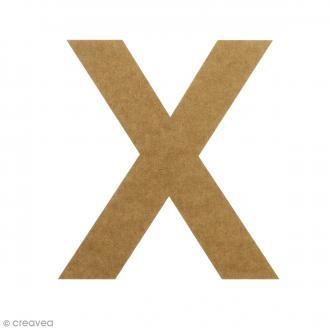 Lettre en bois 20 cm à décorer - X