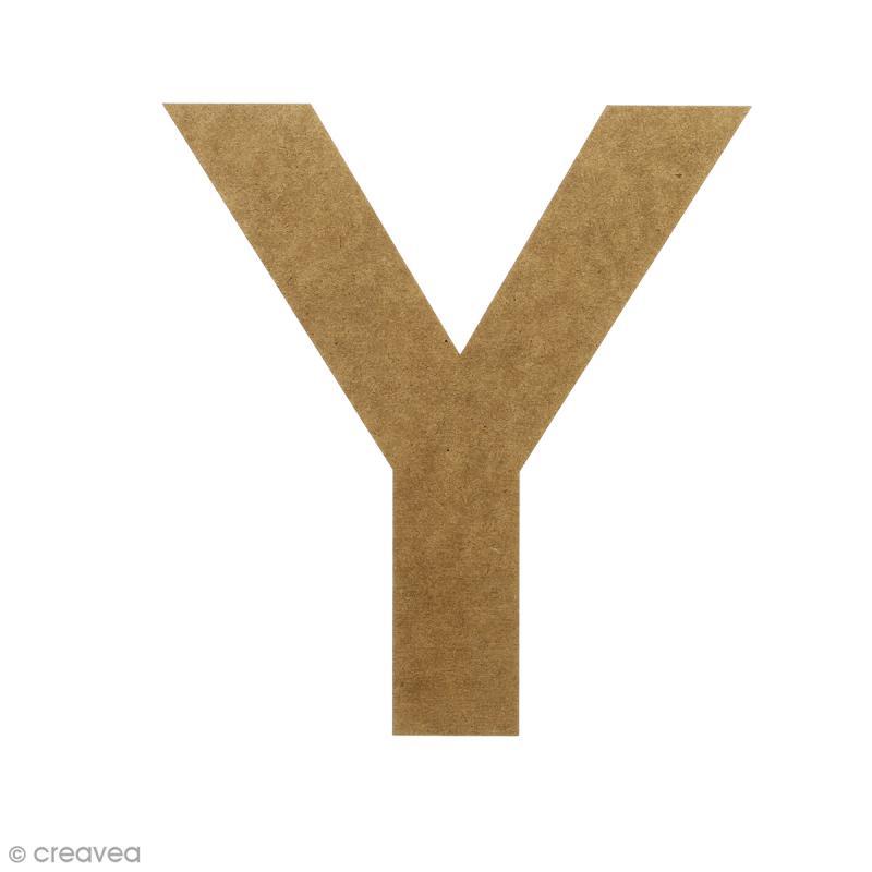 Lettre en bois 20 cm à décorer - Y - Photo n°1