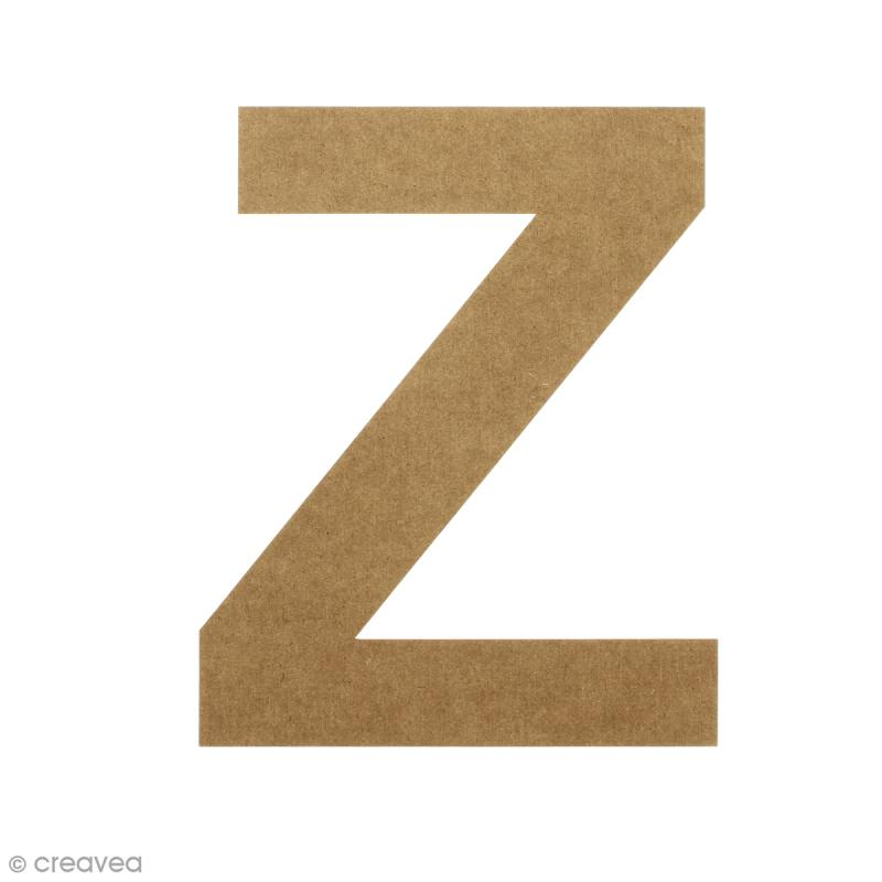 Lettre en bois 20 cm à décorer - Z - Photo n°1