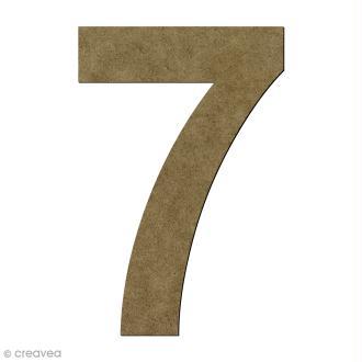 Chiffre en bois 7 - 20 cm