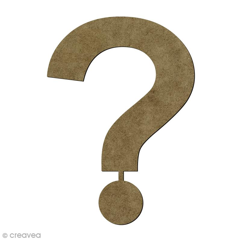 point d 39 interrogation en bois 20 cm lettre en bois 20 cm creavea. Black Bedroom Furniture Sets. Home Design Ideas
