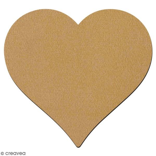 Dessous de verre coeur en bois à décorer - 10 cm - Photo n°1