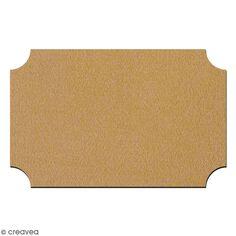 Plaque de porte en bois à décorer - 22 x 14 cm