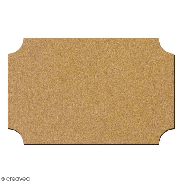 Plaque de porte en bois à décorer - 22 x 14 cm - Photo n°1