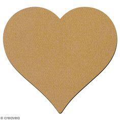 Grande forme en bois à décorer - Coeur - 25 x 26 cm