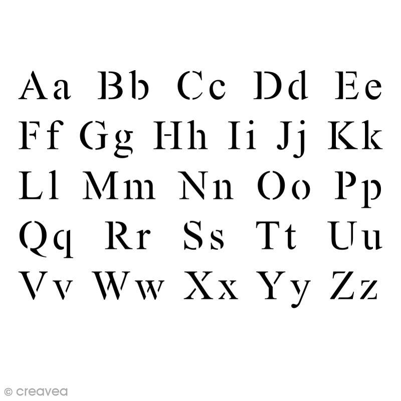 pochoir multiusage 10 x 15 cm alphabet times pochoir alphabet creavea. Black Bedroom Furniture Sets. Home Design Ideas