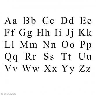 Pochoir multiusage - 10 x 15 cm - Alphabet Times