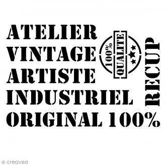 Pochoir multiusage - Vintage - A4 (21 x 29,7 cm)