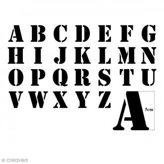 Pochoirs Home Deco - Alphabet - 5 cm - 26 pcs