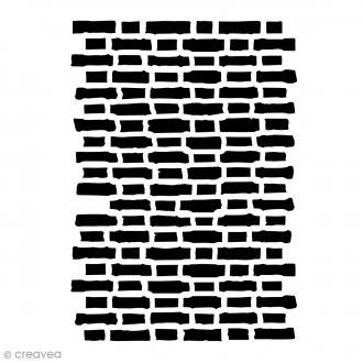 Pochoir Deco Mixed Media - Briques - A4 (21 x 29,7 cm)
