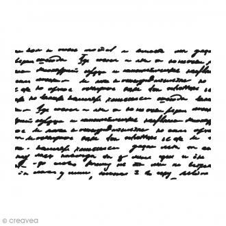 Pochoir Mixed Media - Ecritures Art Stencil - A4
