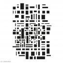 Pochoir multiusage - Géométrique - 29,7 x 21 cm (A4) - Photo n°1
