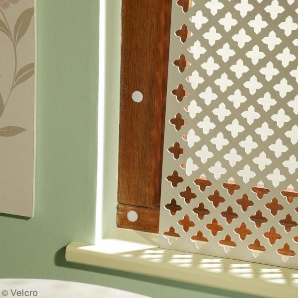 Pastilles Velcro auto agrippantes - A coller - Blanc - 16 mm - 16 pcs - Photo n°3