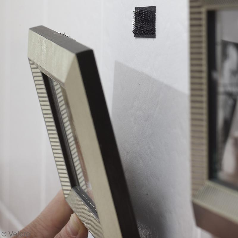 Ruban Velcro auto agrippant - A coller - Noir - 20 mm x 1 m - Photo n°3
