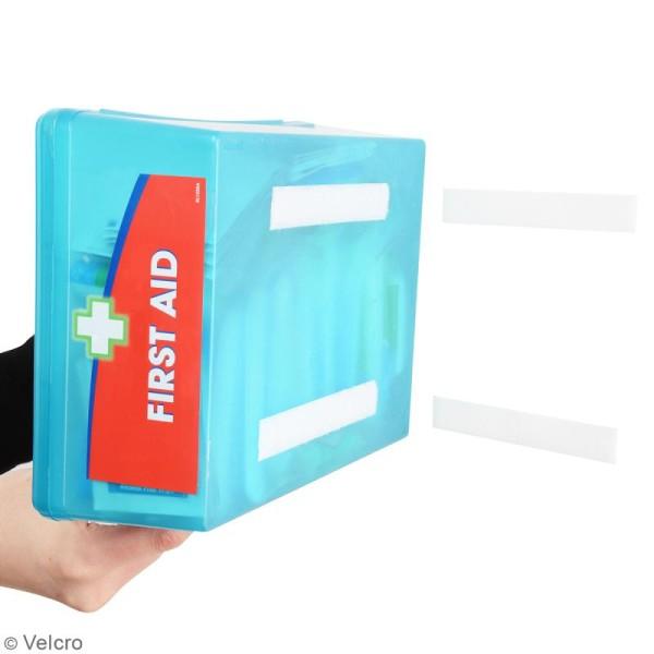 Bandelettes Velcro - A coller - Fixation extrême - Blanc - 50 mm x 10 cm - 2 pcs - Photo n°2
