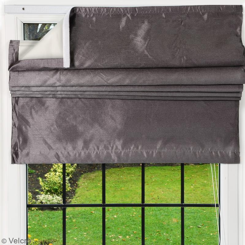 Ruban Velcro pour tissus - A coller ou à coudre - Noir - 20 mm x 10 m - Photo n°3
