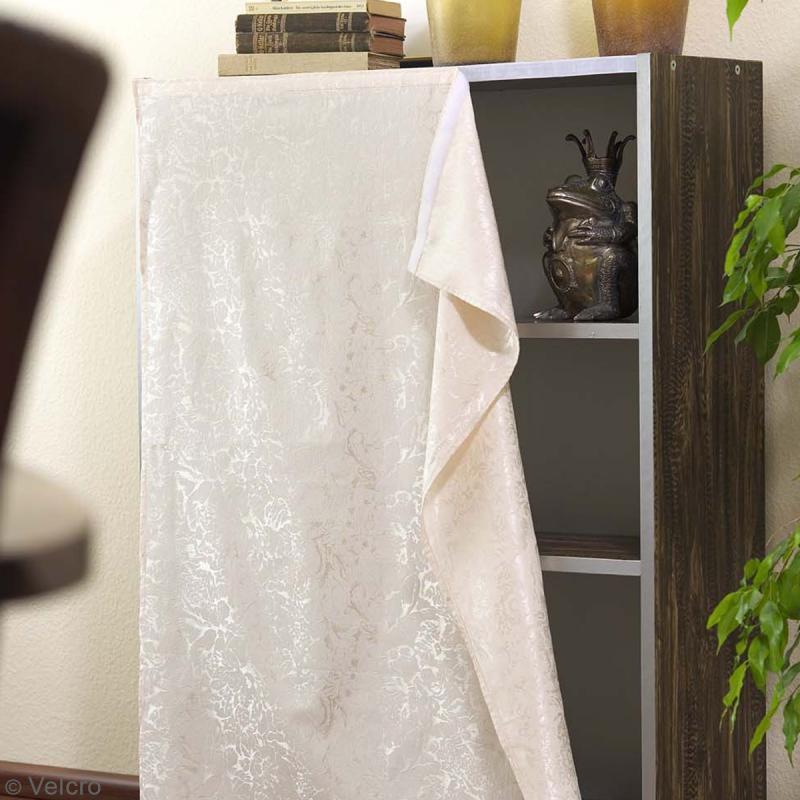 Ruban Velcro pour tissus - A coller ou à coudre - Noir - 20 mm x 10 m - Photo n°4