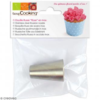 Douille russe rose en inox - 1,8 x 4 cm