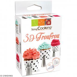 Kit de douilles 3D Froufrou en inox - 7 pcs