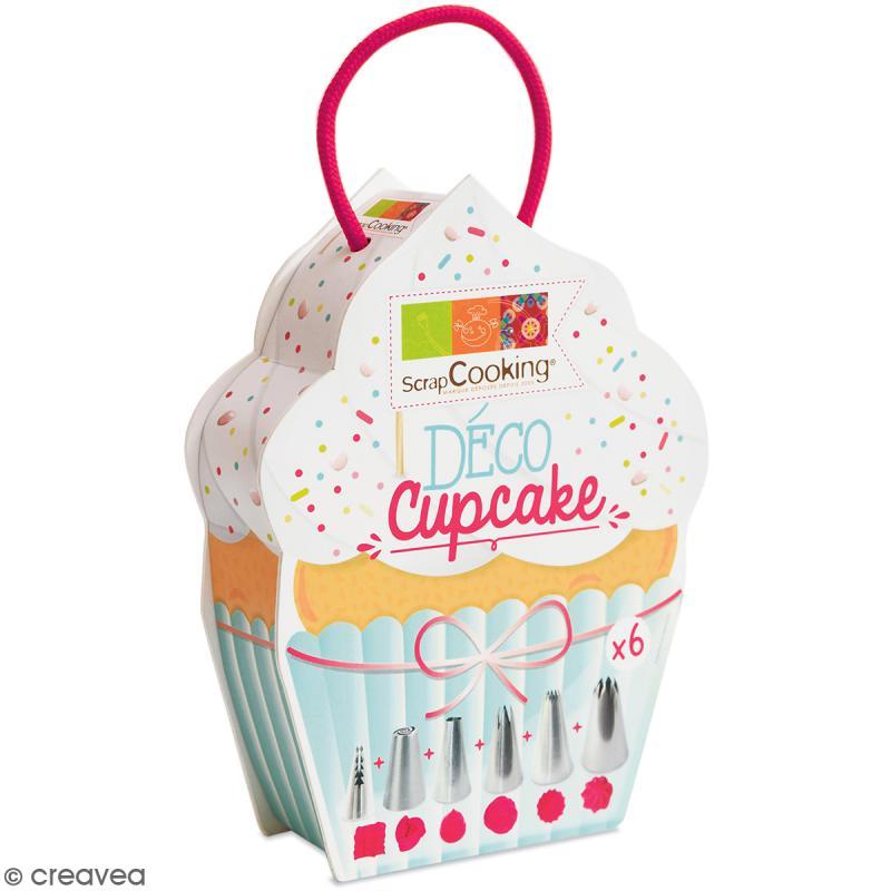 kit d co cupcake 6 douilles en inox douille patisserie creavea. Black Bedroom Furniture Sets. Home Design Ideas