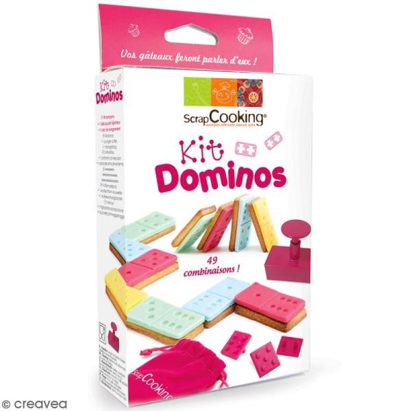 Kit Dominos pour biscuits et pâte à sucre - 16 pcs - Photo n°1